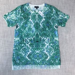 The Limited Short Sleeve Knit Top Shirt Green Blue